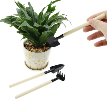 3pc gardening tools bonsai Mini garden for tools Small shovel hoe hoe Plant potted flowers tool seedling planting 5