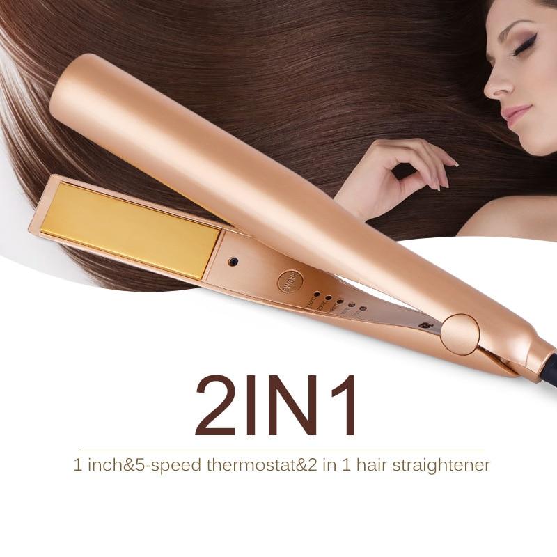 New Straight Hair Artifact Roll Straight Dual-purpose Hair Straightener Splint Five-speed Temperature Control Straight Hair Rod