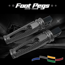 Motorcycle Rear Passenger Pedals Footrest Foot Pegs For GSXR1300 GSXR 1300 HAYABUSA 2008-2018 Footpegs Parts CNC Aluminum for sfv650 rear passenger foot pegs cnc aluminum motorcycle footrest sfv 650 footpegs foot rest pegs pedals
