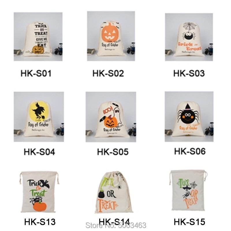 Halloween Drawstring Bags 500pcs/lot Wholesale Sack Candy Handbag 9 Styles Sack Pumpkin Bags Party Decoration Halloween Gift
