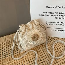 Woven Straw Ladies Bag Bucket Boho Summer Crossbody Bag For Women Female Messenger Envelope Phone Wallet Travel Cute Student(China)