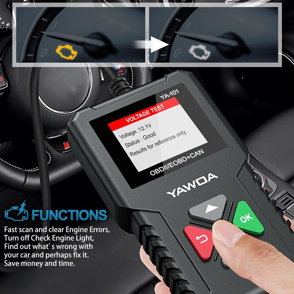 Car Doctor Full OBD2 scanner YA101 OBDII Engine Error Code Reader Car Diagnostic tool Multilingual PK AD310 AL319 OM123 ELM327 3