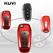 Tpu Car Key Case Cover Protector for Ford Fiesta Focus Mondeo Ecosport Kuga ST Remote Fob