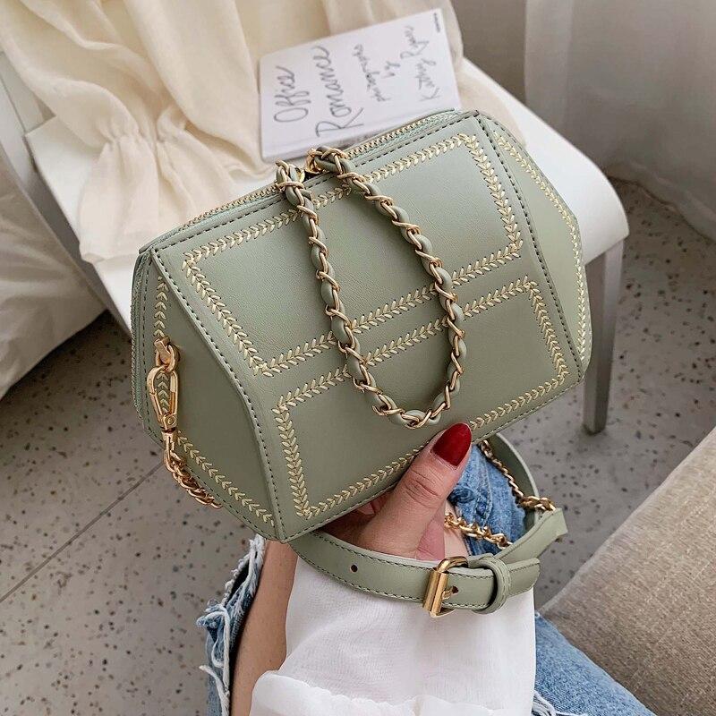 Personality Creative Small Bag Female 2020 Popular New Wave Korean Version Messenger Bag Chain Bag Fashion Shoulder Bag