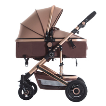 BETSOCCI high view baby stroller bidirectional reclinable baby wheelchair baby four-wheeled wheelbarrow