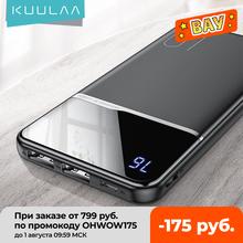 KUULAA-Przenośny powerbank moc 10000mAh do ładowania na USB bateria zewnętrzna do Xiaomi Mi 9 8 iPhone tanie tanio Bateria litowo-polimerowa Wyświetlacz cyfrowy podwójne USB CN (pochodzenie) USB typu C Z tworzywa sztucznego Przenośny power bank