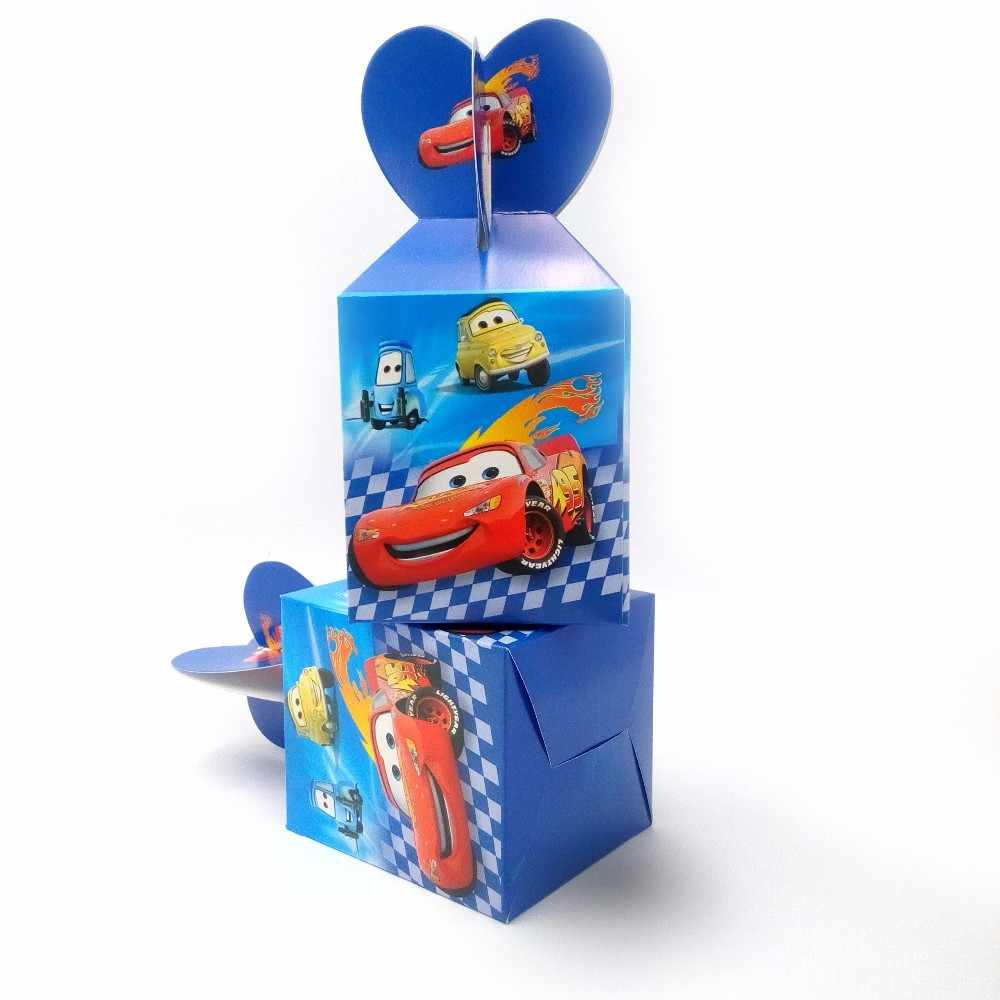 Panas 6 Pcs/set Lightning McQueen Perlengkapan Pesta Ulang Tahun Kotak Permen Kertas Anak Ulang Tahun Dekorasi Bayi Shower Kotak Kertas
