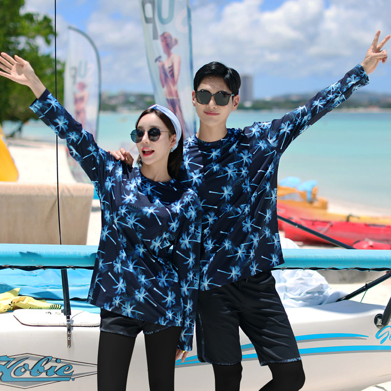 South Korea Couples Diving Suit Women's Split Type Sun-resistant Quick-Drying Swimsuit MEN'S Suit Surfing Snorkeling Trousers Lo