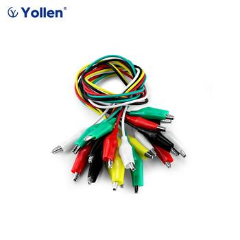 【Gift for order over USD50.00】Double-end Test Leads 1set 10pcs Alligator Crocodile Roach Clip Jumper Cable image