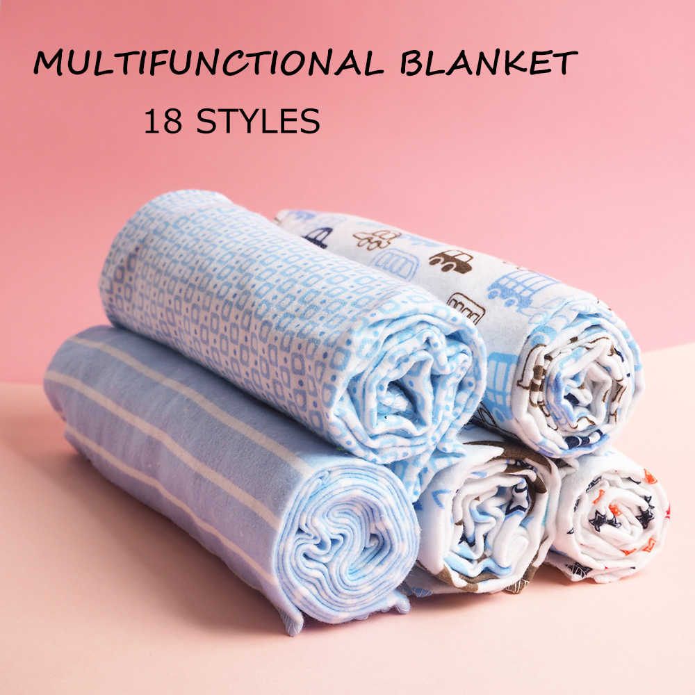4 Pcs/Pack Muslin Squares 100% Cotton Flannel Baby Blanket Soft Baby Muslin Diapers Newborn Swaddle Wrap Muslin Swaddle 76*76 CM