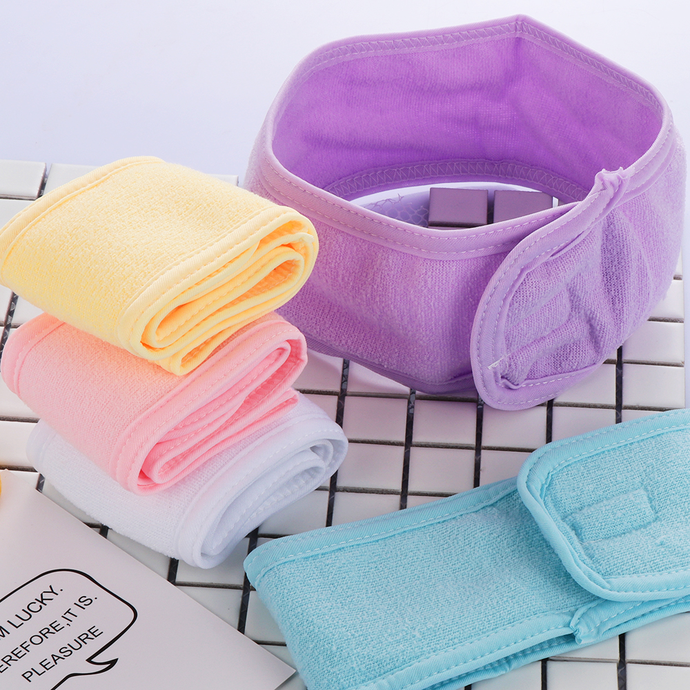 1PC Makeup Head Band Adjustable Toweling Hair Wrap Hairband Practical Salon SPA Yoga Headwear Fashion Women Hair Accessories