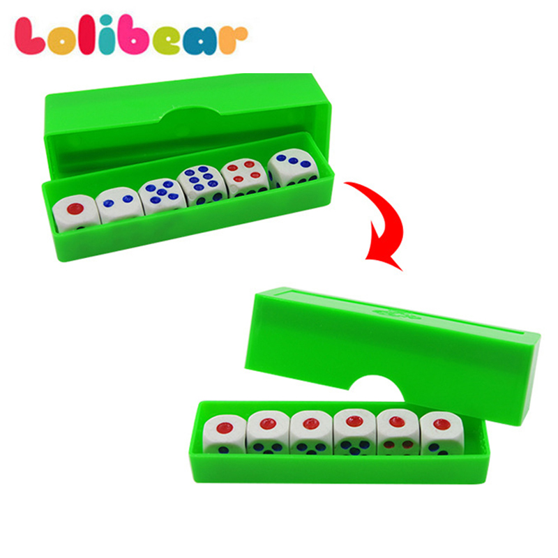 Prediction Dices (Normal Dice) Magic Tricks Six Die Flash Change Magia Close Up Gimmick Props Illusion Funny Toys For Kids Show