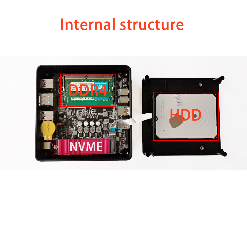 chatreey an1 Amd  mini pc r3 r5 r7  gaming pc Dual ddr4  thin client nvme ssd HTPC windows 10 linux desktop computer Nvme SSD 5