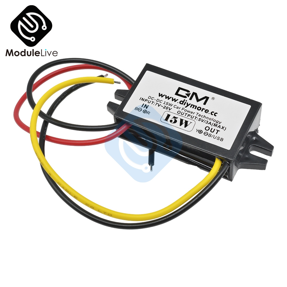 <font><b>DC</b></font>-<font><b>DC</b></font> Buck Convertor Regulator <font><b>12V</b></font> <font><b>to</b></font> <font><b>DC</b></font> <font><b>5V</b></font> <font><b>3A</b></font> 15W <font><b>Converter</b></font> Module Duble USB Output <font><b>Power</b></font> <font><b>Adapter</b></font> <font><b>Car</b></font> Monitor <font><b>Power</b></font> Supply image