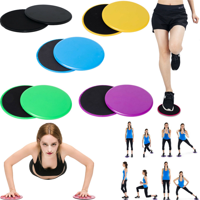 2x Gliding Discs Sliding Pad Workout Gym Home Fitness Exercise Training Slider