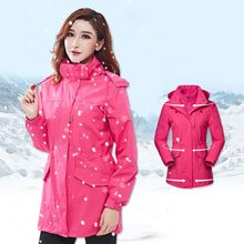 Winter Fleece Hiking Jacket Women Waterproof Windbreaker Softshell Female Skiing Hunting Rain Coat casaco impermeavel regenjacke