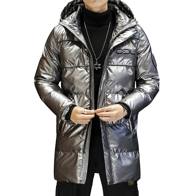 Winter Men White Duck Down Jacket Glossy Casual Windproof Outwear Thick Warm Down Jacket Man Clothing