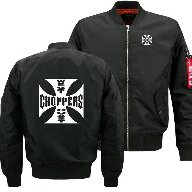 Mens Flying Jacket Wintter Warm Slim Fit  Fly Pilot Jacket Men West Coast Choppers  Sweatshirt Hip Hop Harajuku Male Clothing