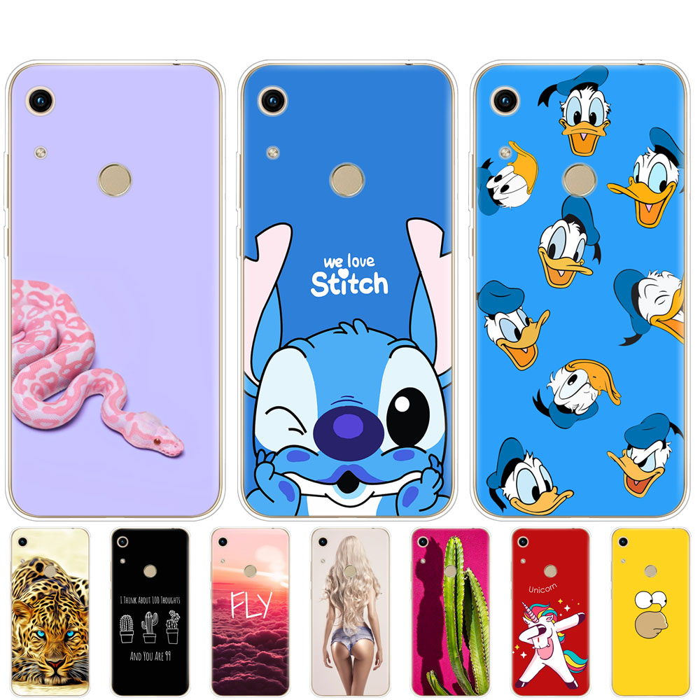 For huawei honor 8A pro Case bumper Silicon TPU back Cover On for Huawei Honor 8A JAT-LX1 8 A coque Protective Painted Shells