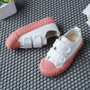Image 4 - 春の秋の子供スニーカーキャンバスシューズ子供のスポーツの靴女の子少年靴