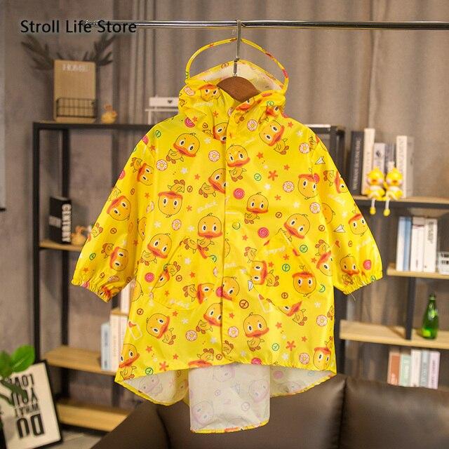 Yellow Duck Raincoat Kids Cute Rain Coat Boots Jacket Waterproof Cartoon Long Umbrella Rain Poncho Hiking Rainwear Impermeable 3