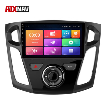 Android 8.0 Car Radio 1 Din GPS Autoradio Rear View Camera Monitor Central Multimidia GPS Navigation for Ford Focus 2012-2015 image