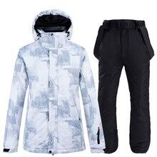 10k imperméable à leau Ski costumes mode hiver ensemble pour hommes femmes Snowboard vêtements costumes épaissir chaud Ski veste pantalon grande taille 3XL