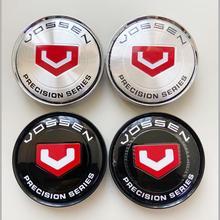 4 adet/grup 63MM VOSSEN hassas serisi araba tekerlek merkezi Hub Cap Sticker araba rozeti amblem sticker