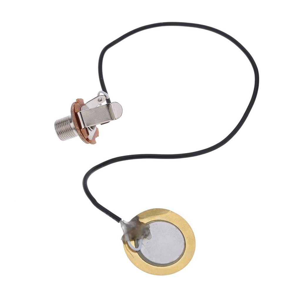 Acoustic Guitar Transducer Pre-Wired Amplifier Piezo Jack Pickup Accessory For Ukulele Mandolin Banjo String Music Instruments