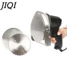 JIQI 전기 케밥 슬라이서 도너 나이프 Shawarma 커터 핸드 헬드 로스트 고기 커팅 머신 자이로 나이프 220 240V 110V 두 블레이드