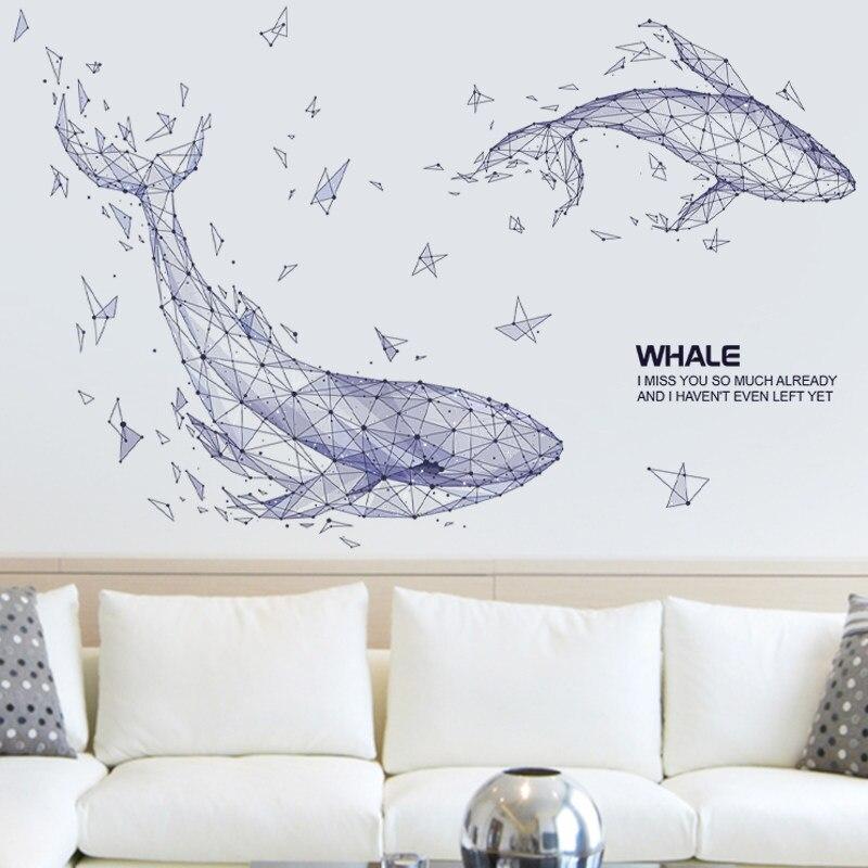 Украшения для стен в скандинавском стиле, креативные фрески в виде птицы из смолы для гостиной, миниатюрная фигурка животного, 3D наклейка, ф... - 6