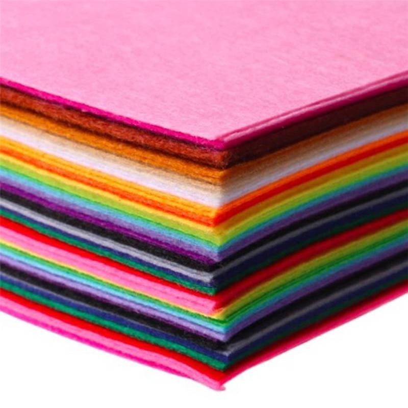 20pcs Cloth Felts Non Woven Felt Fabric Of Home Decoration Pattern Bundle For Sewing Dolls Crafts 15x15cm