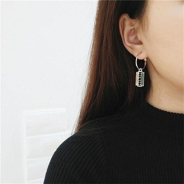 Kreuz Ohrringe Für Frauen Vintage Lange Kette Kreuz Zipper Baumeln Ohrringe Männer Frauen Quasten Anhänger Punk Schmuck Geschenk