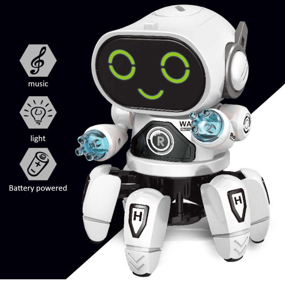 Speelgoed Sport Intelligente Inductie lichte muziek dansen Kids speelgoed Educatief kleurrijke lamp licht/Arm draaien walking robot Fun play