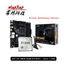 Amd ryzen 7 3700x r7 3700x cpu + asus tuf gaming b550m mais (wi-fi) placa-mãe soquete terno am4 tudo novo, mas sem refrigerador
