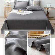 Cotton Sheets Single Piece Cotton Thickened Solid Color Student Dormitory Single Double Ins Wind Quilt Three Piece Set Sheet