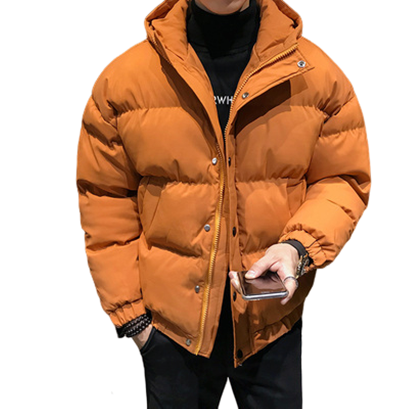 Men Winter Jacket Warm Male Short Cotton Hooded Coats Fashion Thick Padded Men Parkas Casual Windproof Branded Clothing