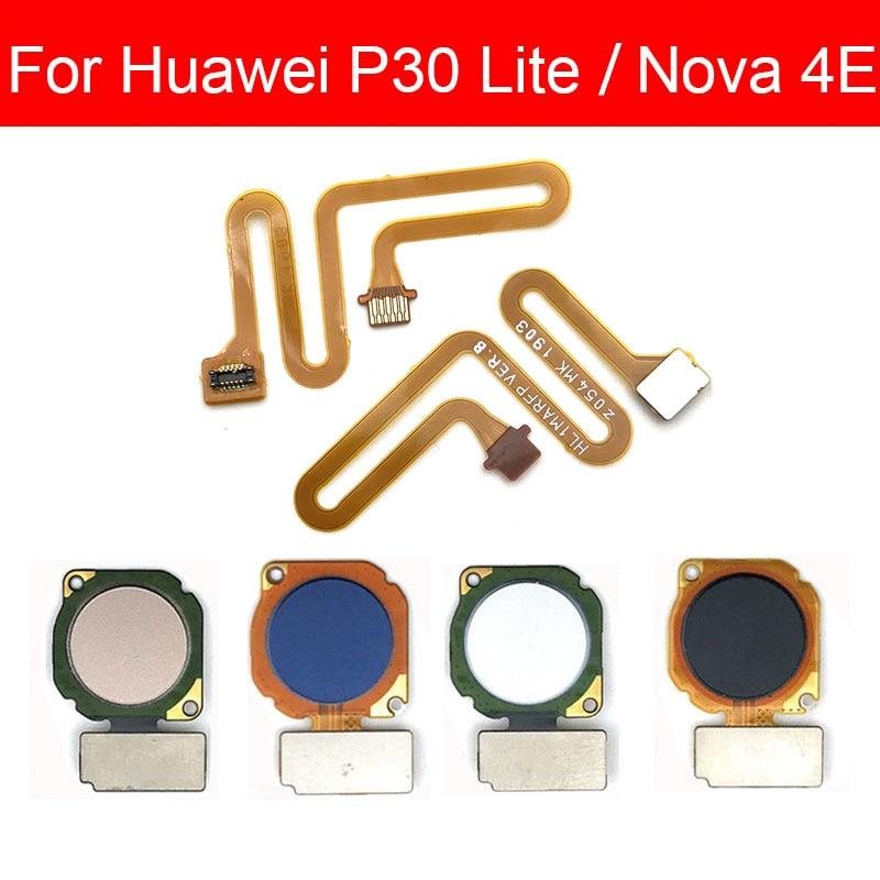 Home Button Flex Cable For Huawei P30 Lite Nova 4E Menu Key Fingerprint Recognition Sensor Flex Ribbon Cable Replacement