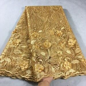 Image 3 - Afrika dantel kumaş 2019 yüksek kaliteli dantel pembe gelin dantel kumaş ile boncuklu nijeryalı tül örgü dantel kumaşlar HX05F