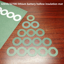 100pcs/lot 32650 battery for high temperature insulation gasket 32700 lithium with adhesive sapphire paper flat head gas