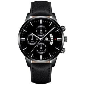 Image 5 - 2020 Relogio Masculino Horloges Mannen Mode Sport Rvs Case Lederen Band Horloge Quartz Zaken Horloge Reloj Hombr