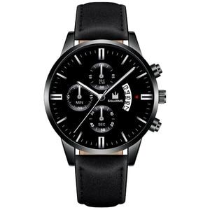 Image 5 - 2020 Relogio Masculino Watches Men Fashion Sport Stainless Steel Case Leather Strap Watch Quartz Business Wristwatch Reloj Hombr