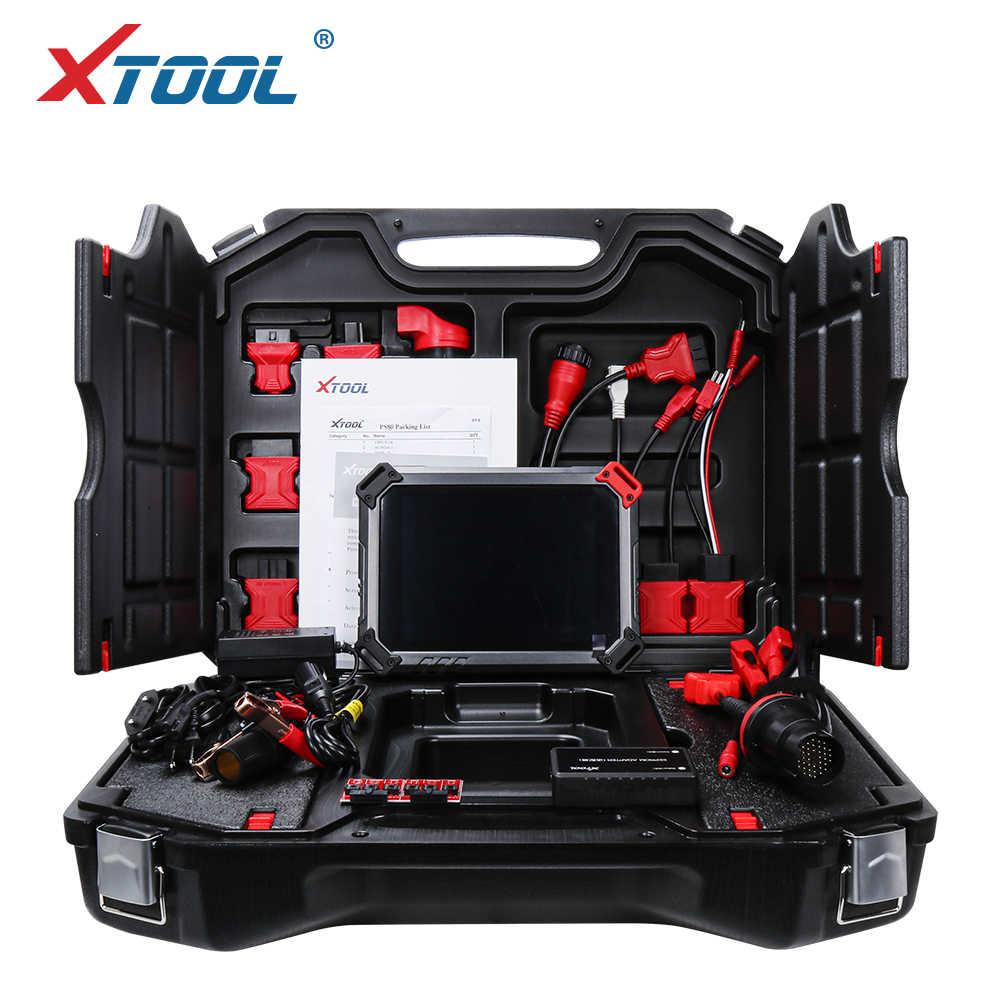 XTOOL PS80 Профессиональный OBD2 Автомобильная полная система диагностический инструмент ECU кодирование ps 80 бесплатное обновление онлайн