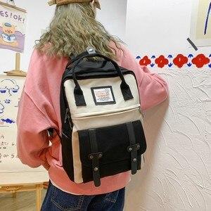 Image 2 - חדש מגמה נשי תרמיל אופנה מזדמן נשים תרמיל עמיד למים ניילון תיקי בית ספר בגיל ההתבגרות ילדה כתף שקיות נקבה