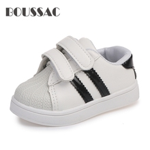 BOUSSAC 2019 spring summer childrens fashion sneakers new boys girls sprt shoes shellfish casual white for kids