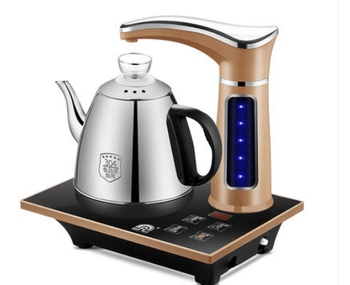 Electric Fully automatic Kettle teapot set 0.8L stainless steel safety auto-off Water Dispenser samovar Pumping stove household electric heating kettle household 304 stainless steel fast automatic power safety auto off function