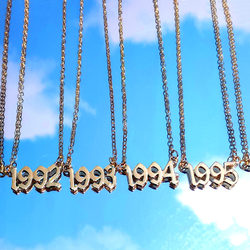 BYNOUCK Personality Year Number Necklaces for Women Custom Year 1980 1989 2000 Birthday Gift from 1980 to 2020 Jewelry Gift