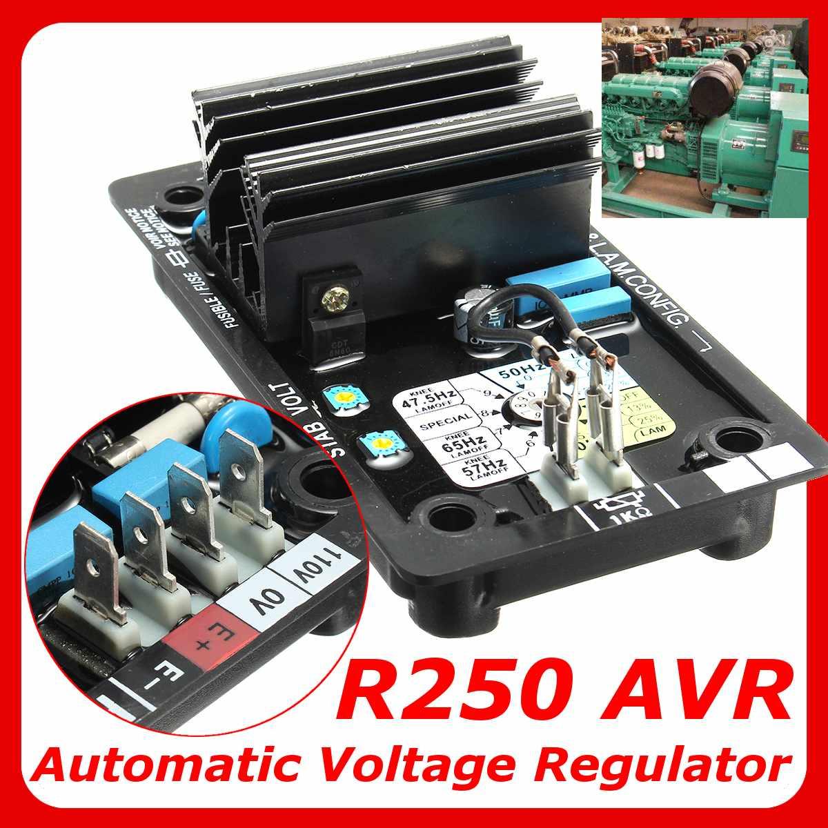 Régulateur de tension automatique pour Leroy Somer générateur régulateur de tension remplacement noir AVR R250