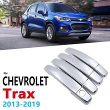 Chrome alças capa guarnição para chevrolet holden trax tracker 2013 ~ 2019 acessórios do carro adesivos estilo 2014 2015 2016 2017 2018