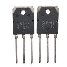 Frete grátis 10 pces 2sa1941 2sc5198 TO 3P (5 pces * a1941 + 5 pces * c5198) amplificador de áudio dedicado o tubo novo ic original